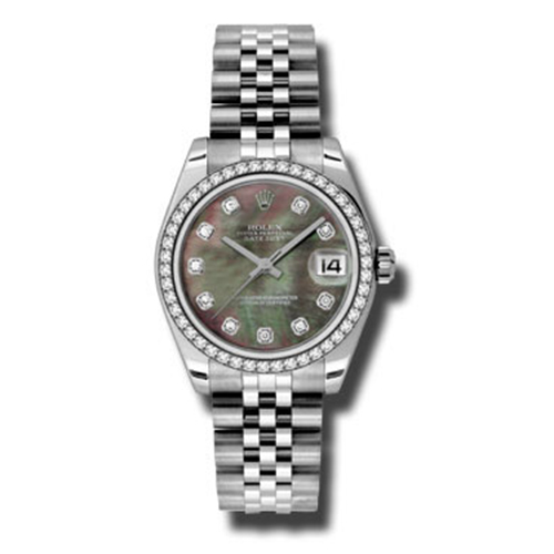 Oyster Perpetual Datejust 31mm Diamond Bezel 178384 dkmdj