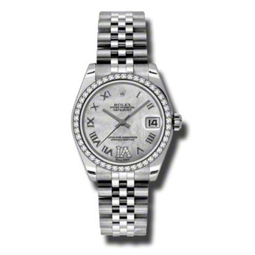 Oyster Perpetual Datejust 31mm Diamond Bezel 178384 mdrj