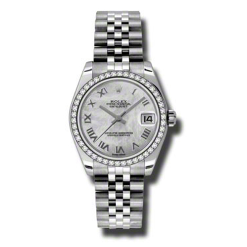 Oyster Perpetual Datejust 31mm Diamond Bezel 178384 mrj