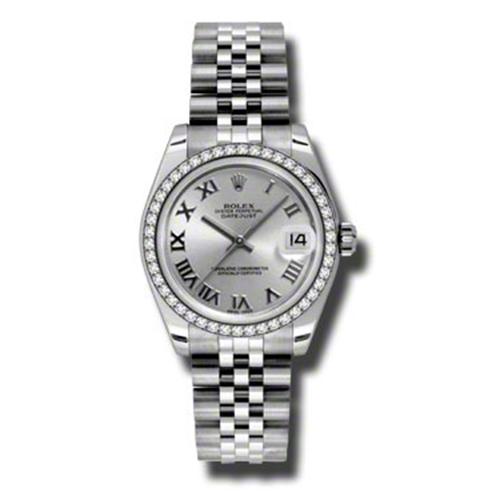 Oyster Perpetual Datejust 31mm Diamond Bezel 178384 srj