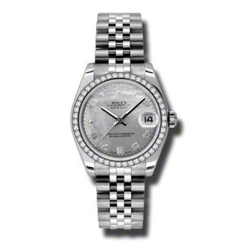 Oyster Perpetual Datejust 31mm Diamond Bezel 178384 wgdmdaj
