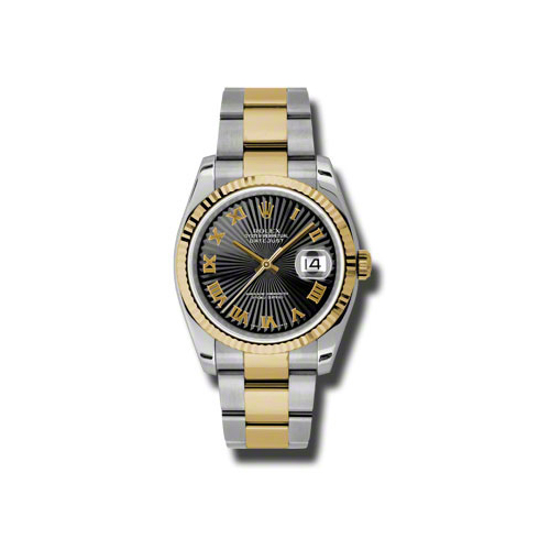 Oyster Perpetual Datejust 36mm Fluted Bezel 116233 bksbro