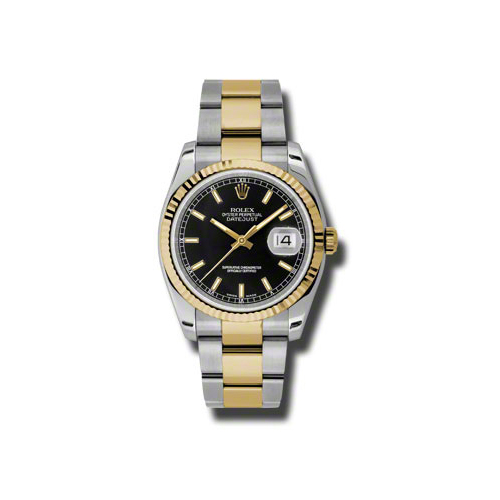 Oyster Perpetual Datejust 36mm Fluted Bezel 116233 bkso