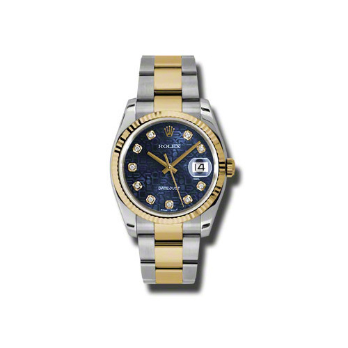 Oyster Perpetual Datejust 36mm Fluted Bezel 116233 bljdo