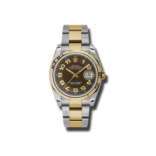 Oyster Perpetual Datejust 36mm Fluted Bezel 116233 brao