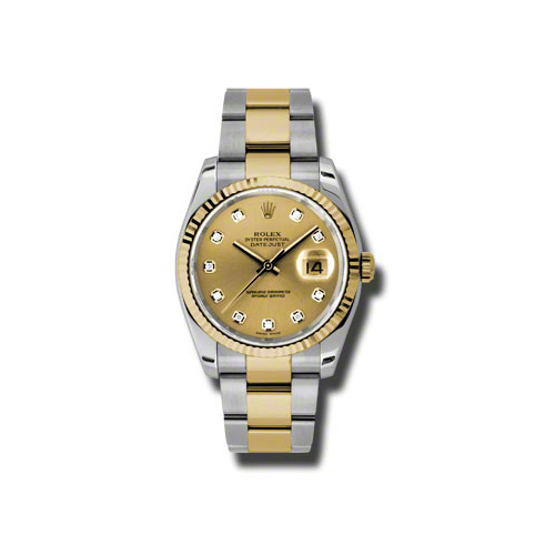 Oyster Perpetual Datejust 36mm Fluted Bezel 116233 chdo