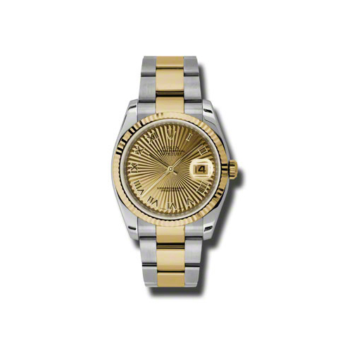 Oyster Perpetual Datejust 36mm Fluted Bezel 116233 chsbro