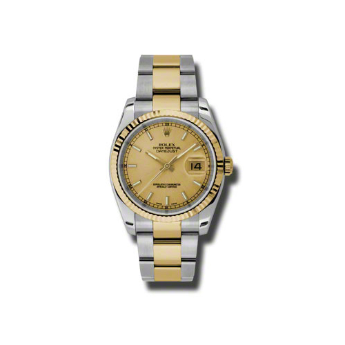 Oyster Perpetual Datejust 36mm Fluted Bezel 116233 chso