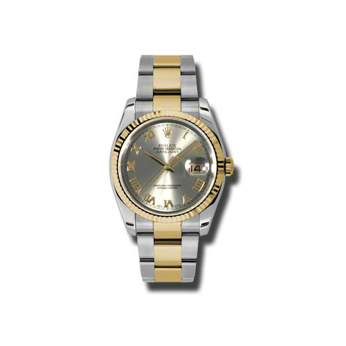 Oyster Perpetual Datejust 36mm Fluted Bezel 116233 gro