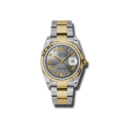 Oyster Perpetual Datejust 36mm Fluted Bezel 116233 gsbro