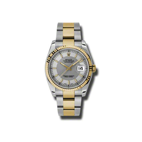 Oyster Perpetual Datejust 36mm Fluted Bezel 116233 stsiso