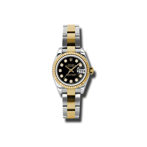 Oyster Perpetual Lady Datejust 179173 bkdo