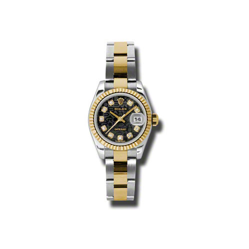 Oyster Perpetual Lady-Datejust 26 Fluted Bezel 179173 bkjdo