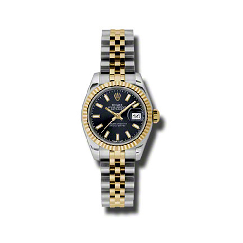 Oyster Perpetual Lady-Datejust 26 Fluted Bezel 179173 bksj