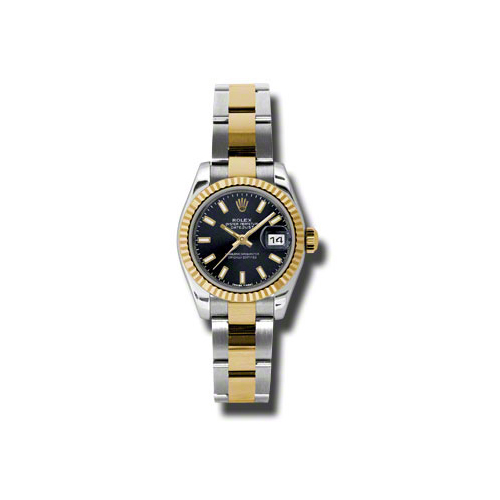 Oyster Perpetual Lady-Datejust 26 Fluted Bezel 179173 bkso
