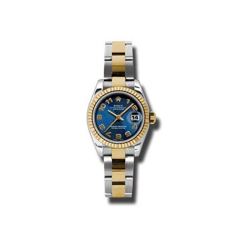 Oyster Perpetual Lady-Datejust 26 Fluted Bezel 179173 blcao