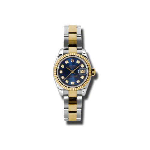 Oyster Perpetual Lady-Datejust 26 Fluted Bezel 179173 bldo