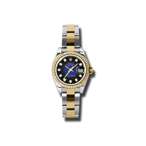 Oyster Perpetual Lady-Datejust 26 Fluted Bezel 179173 blvdo