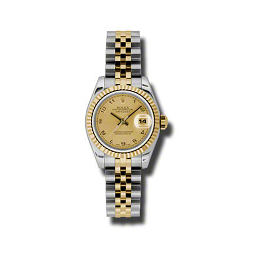 Oyster Perpetual Lady-Datejust 26 Fluted Bezel 179173 chaj