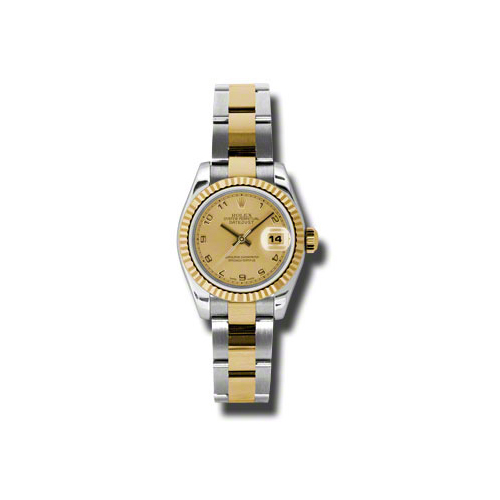Oyster Perpetual Lady-Datejust 26 Fluted Bezel 179173 chao