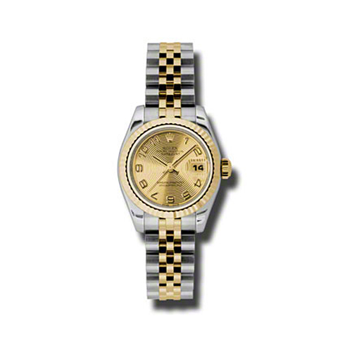 Oyster Perpetual Lady-Datejust 26 Fluted Bezel 179173 chcaj
