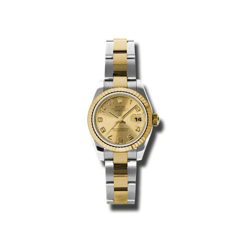 Oyster Perpetual Lady-Datejust 26 Fluted Bezel 179173 chcao