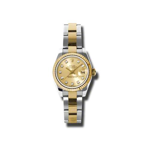 Oyster Perpetual Lady-Datejust 26 Fluted Bezel 179173 chdo