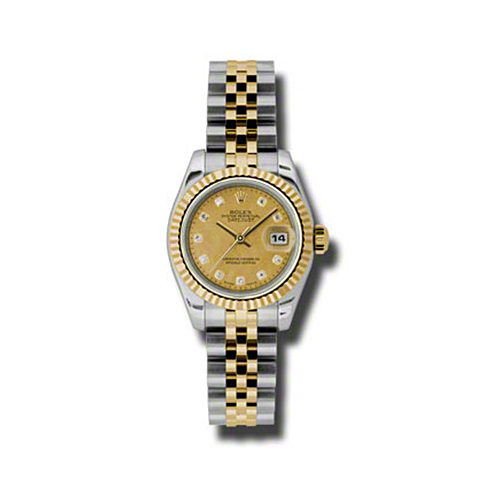 Oyster Perpetual Lady-Datejust 26 Fluted Bezel 179173 chgdmdj