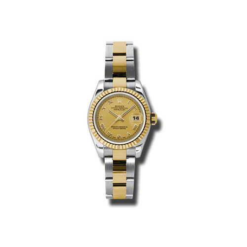 Oyster Perpetual Lady-Datejust 26 Fluted Bezel 179173 chro