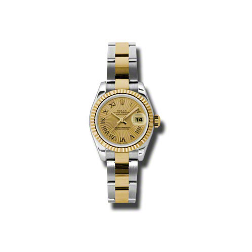 Oyster Perpetual Lady-Datejust 26 Fluted Bezel 179173 chsbro