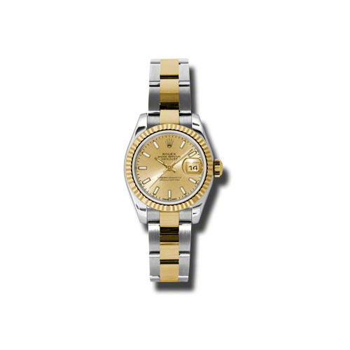 Oyster Perpetual Lady-Datejust 26 Fluted Bezel 179173 chso