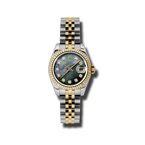 Oyster Perpetual Lady-Datejust 26 Fluted Bezel 179173 dkmdj