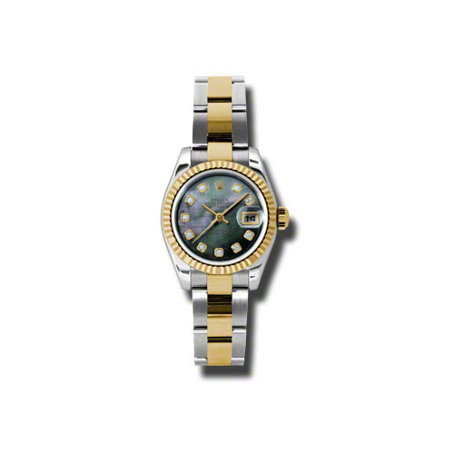 Oyster Perpetual Lady-Datejust 26 Fluted Bezel 179173 dkmdo