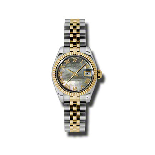 Oyster Perpetual Lady-Datejust 26 Fluted Bezel 179173 dkmrj