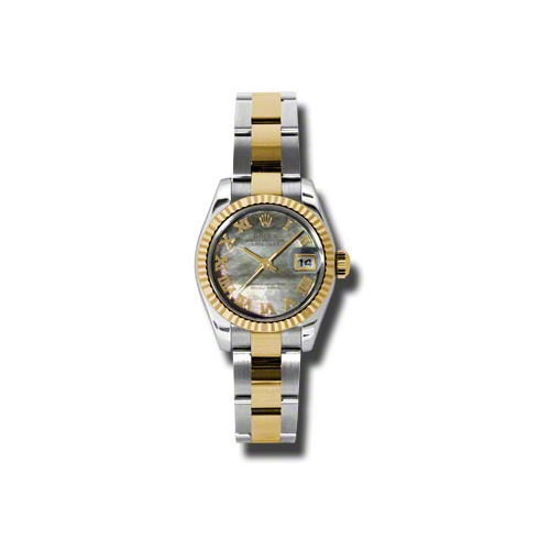 Oyster Perpetual Lady-Datejust 26 Fluted Bezel 179173 dkmro