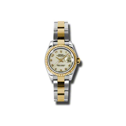 Oyster Perpetual Lady-Datejust 26 Fluted Bezel 179173 ijao
