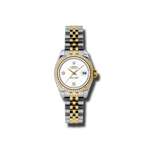 Oyster Perpetual Lady-Datejust 26 Fluted Bezel 179173 wadj