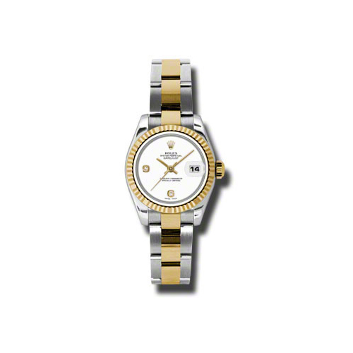 Oyster Perpetual Lady-Datejust 26 Fluted Bezel 179173 wado