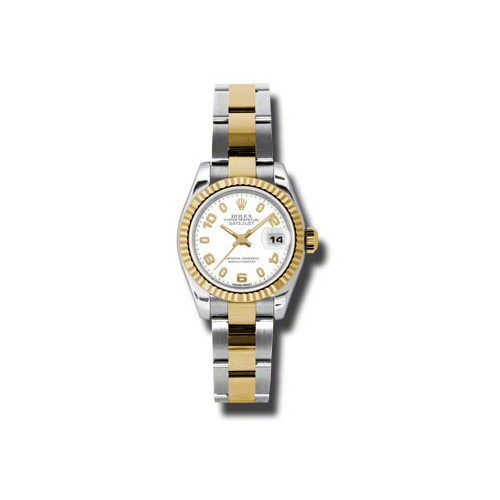 Oyster Perpetual Lady-Datejust 26 Fluted Bezel 179173 wao