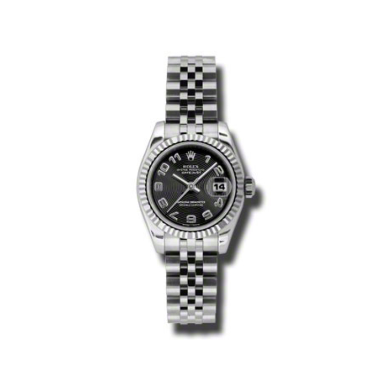 Oyster Perpetual Lady-Datejust 26 Fluted Bezel 179174 bkcaj