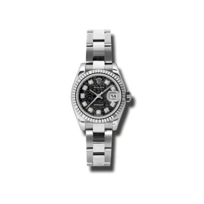 Oyster Perpetual Lady-Datejust 26 Fluted Bezel 179174 bkjdo