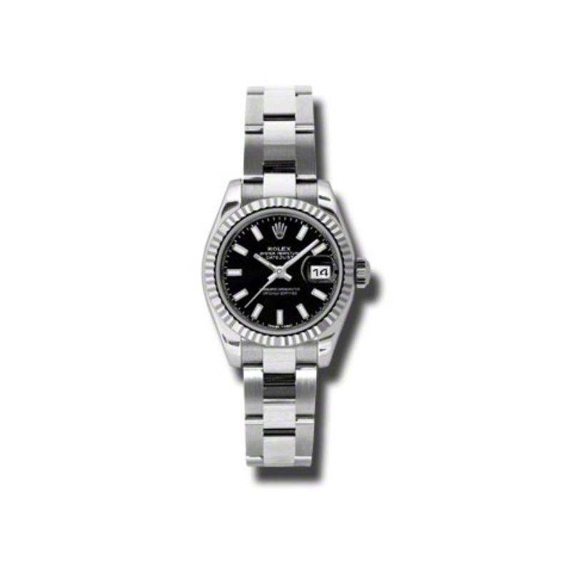 Oyster Perpetual Lady-Datejust 26 Fluted Bezel 179174 bkso