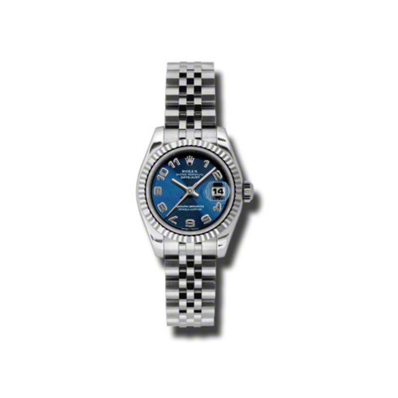 Oyster Perpetual Lady-Datejust 26 Fluted Bezel 179174 blcaj