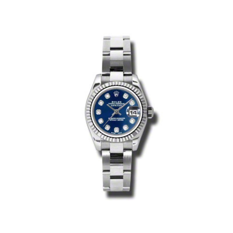 Oyster Perpetual Lady-Datejust 26 Fluted Bezel 179174 bldo