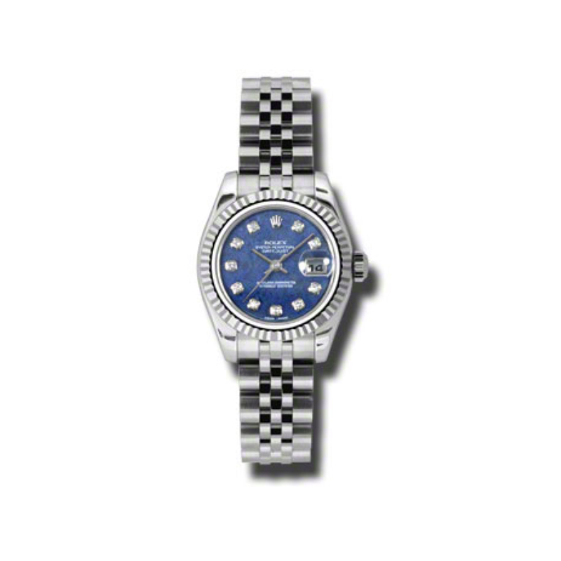 Oyster Perpetual Lady-Datejust 26 Fluted Bezel 179174 blsodj