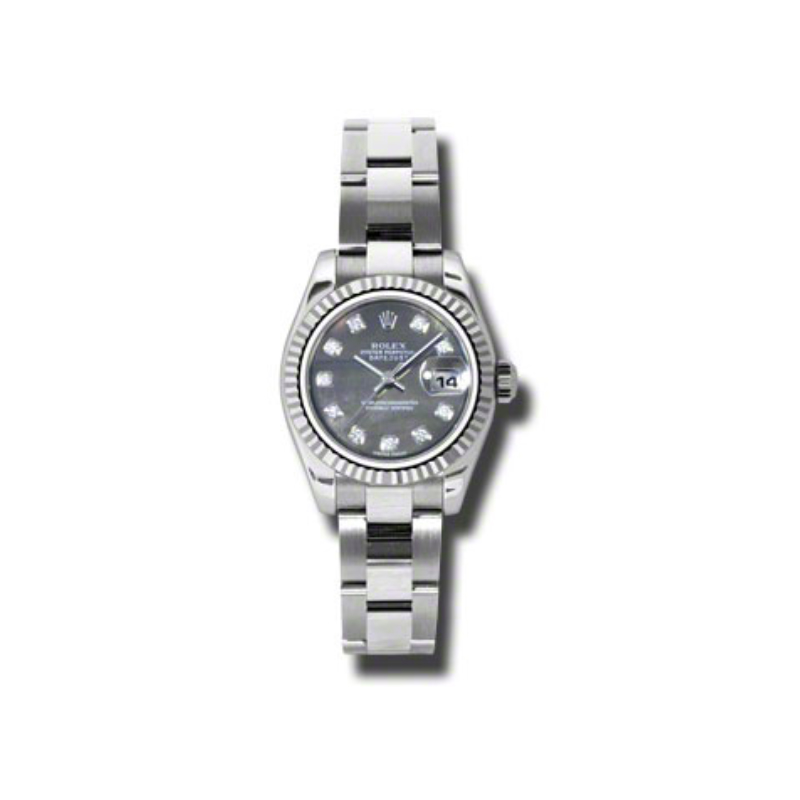 Oyster Perpetual Lady-Datejust 26 Fluted Bezel 179174 dkmdo