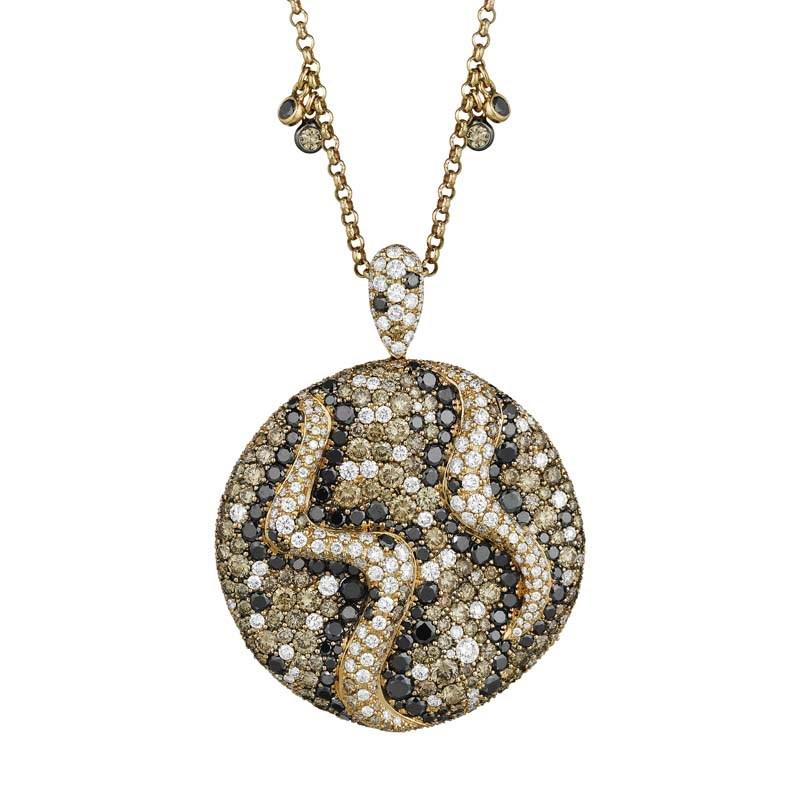 18K Rose Gold Sand Dunes Pendant Necklace