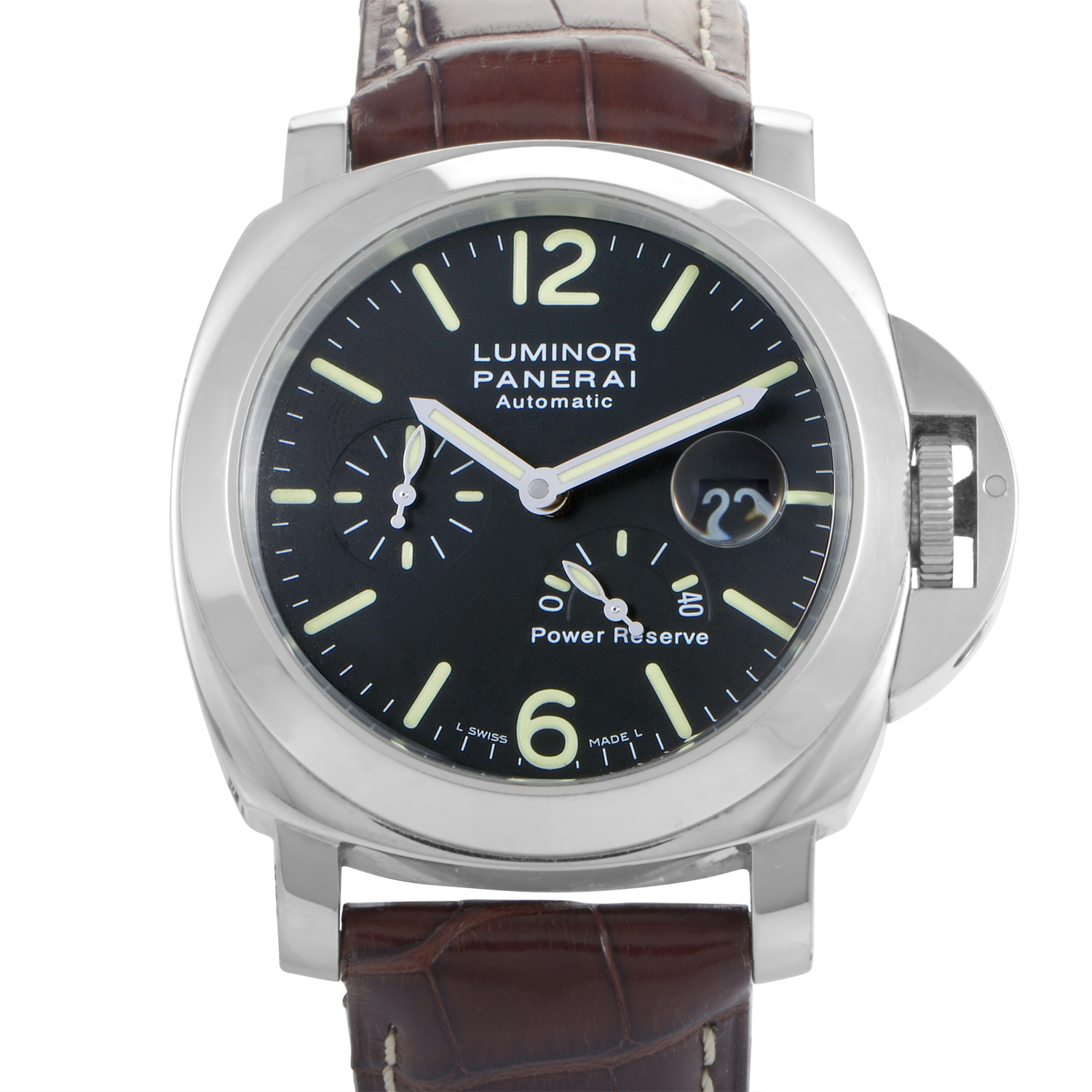 Luminor Power Reserve Men's Automatic Stainless Steel Watch PAM00090