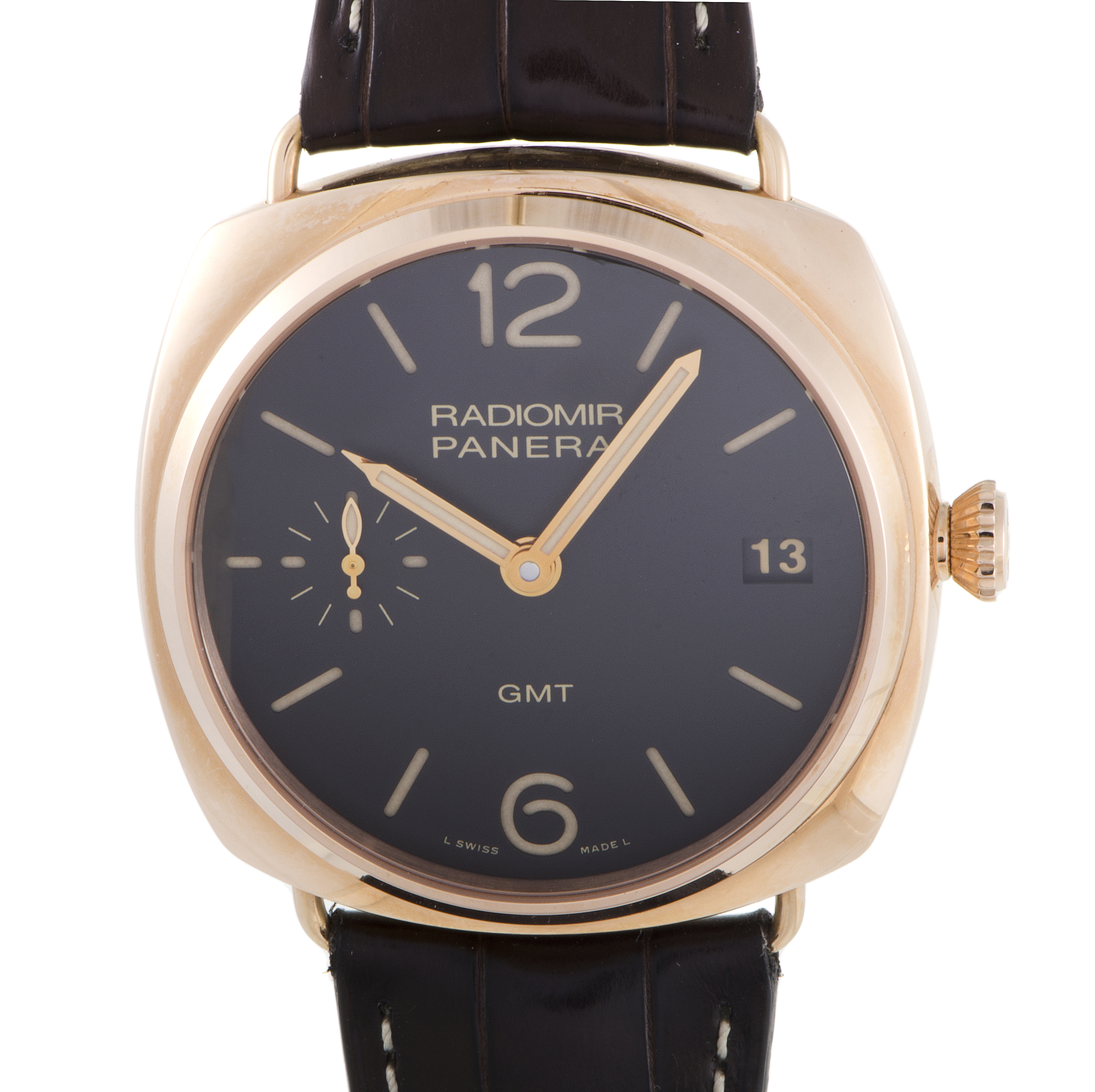 Radiomir 3 Days GMT Oro Rosso Manually Wound Watch PAM00421