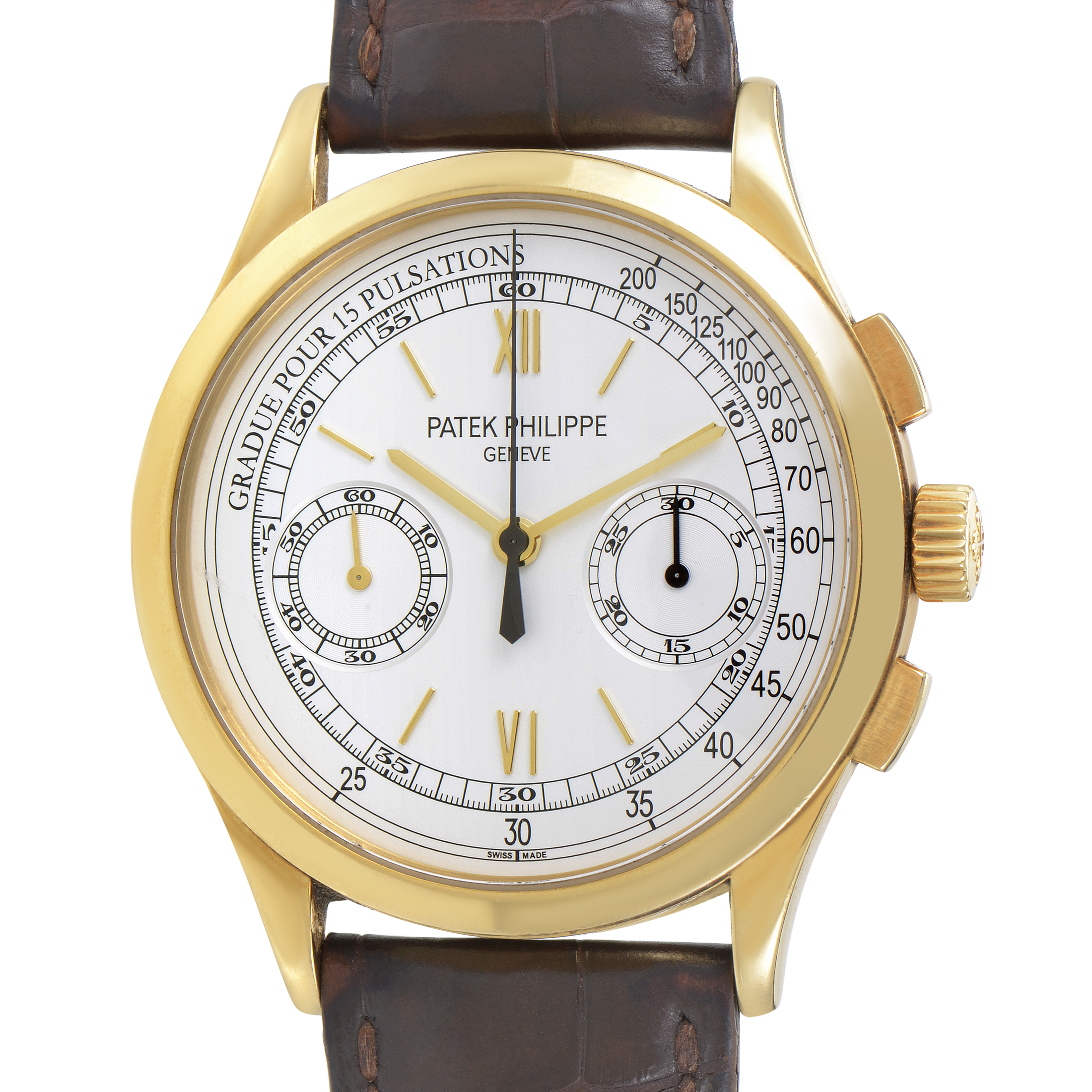 Patek Philippe Men's Gold Manually Wound Classic Chronograph Watch 5170J-001